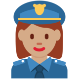 Woman Police Officer: Medium Skin Tone on Twitter Twemoji 11.4