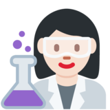 Woman Scientist: Light Skin Tone on Twitter Twemoji 11.4