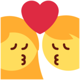 Kiss on Twitter Twemoji 11.4