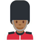 Man Guard: Medium-Dark Skin Tone on Twitter Twemoji 11.4