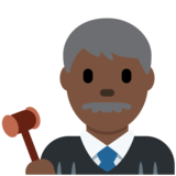 Man Judge: Dark Skin Tone on Twitter Twemoji 11.4