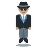 Person in Suit Levitating: Medium Skin Tone on Twitter Twemoji 11.4
