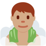 Man in Steamy Room: Medium Skin Tone on Twitter Twemoji 11.4