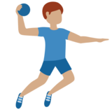 Man Playing Handball: Medium Skin Tone on Twitter Twemoji 11.4