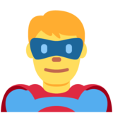 Man Superhero on Twitter Twemoji 11.4
