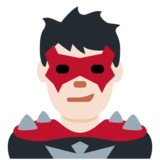 Man Supervillain: Light Skin Tone on Twitter Twemoji 11.4