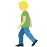 Man Walking: Medium-Light Skin Tone on Twitter Twemoji 11.4