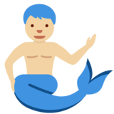 Merman: Medium-Light Skin Tone on Twitter Twemoji 11.4