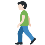Person Walking: Light Skin Tone on Twitter Twemoji 11.4