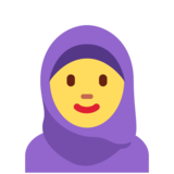 Woman with Headscarf on Twitter Twemoji 11.4