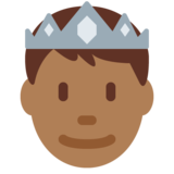 Prince: Medium-Dark Skin Tone on Twitter Twemoji 11.4