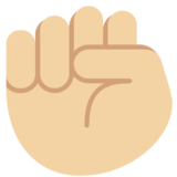 Raised Fist: Medium-Light Skin Tone on Twitter Twemoji 11.4