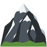 Snow-Capped Mountain on Twitter Twemoji 11.4