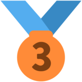 3rd Place Medal on Twitter Twemoji 11.4