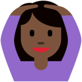 Woman Gesturing OK: Dark Skin Tone on Twitter Twemoji 11.4