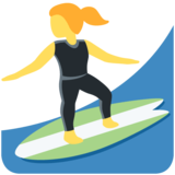 Woman Surfing on Twitter Twemoji 11.4