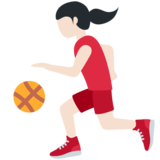 Woman Bouncing Ball: Light Skin Tone on Twitter Twemoji 11.4