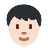 Person: Light Skin Tone on Twitter Twemoji 12.1