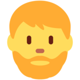 Man: Beard on Twitter Twemoji 12.1
