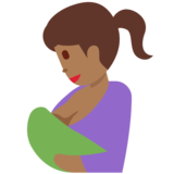 Breast-Feeding: Medium-Dark Skin Tone on Twitter Twemoji 12.1