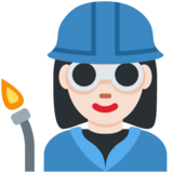 Woman Factory Worker: Light Skin Tone on Twitter Twemoji 12.1