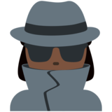 Woman Detective: Dark Skin Tone on Twitter Twemoji 12.1