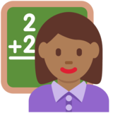 Woman Teacher: Medium-Dark Skin Tone on Twitter Twemoji 12.1