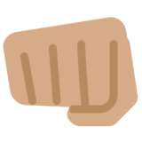 Oncoming Fist: Medium Skin Tone on Twitter Twemoji 12.1