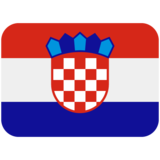 Flag: Croatia on Twitter Twemoji 12.1