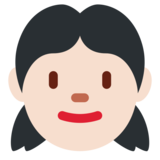 Girl: Light Skin Tone on Twitter Twemoji 12.1