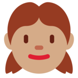 Girl: Medium Skin Tone on Twitter Twemoji 12.1