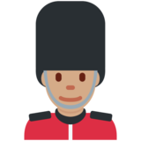 Guard: Medium Skin Tone on Twitter Twemoji 12.1