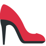 High-Heeled Shoe on Twitter Twemoji 12.1