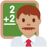 Man Teacher: Medium Skin Tone on Twitter Twemoji 12.1