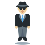 Person in Suit Levitating: Medium-Light Skin Tone on Twitter Twemoji 12.1