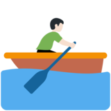 Man Rowing Boat: Light Skin Tone on Twitter Twemoji 12.1