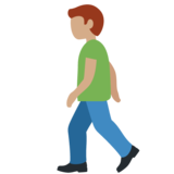 Man Walking: Medium Skin Tone on Twitter Twemoji 12.1