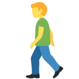 Man Walking on Twitter Twemoji 12.1
