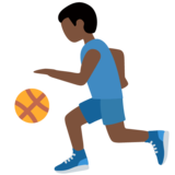 Man Bouncing Ball: Dark Skin Tone on Twitter Twemoji 12.1