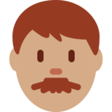 Man: Medium Skin Tone on Twitter Twemoji 12.1