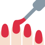 Nail Polish: Light Skin Tone on Twitter Twemoji 12.1