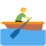 Person Rowing Boat on Twitter Twemoji 12.1