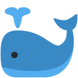 Spouting Whale on Twitter Twemoji 12.1