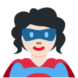 Superhero: Light Skin Tone on Twitter Twemoji 12.1