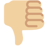 Thumbs Down: Medium-Light Skin Tone on Twitter Twemoji 12.1