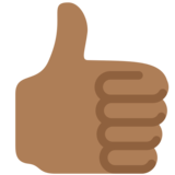 Thumbs Up: Medium-Dark Skin Tone on Twitter Twemoji 12.1