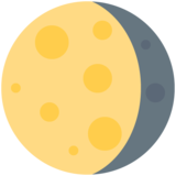 Waning Gibbous Moon on Twitter Twemoji 12.1