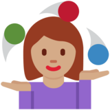 Woman Juggling: Medium Skin Tone on Twitter Twemoji 12.1