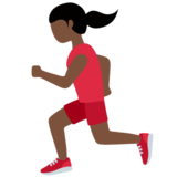 Woman Running: Dark Skin Tone on Twitter Twemoji 12.1