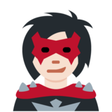 Woman Supervillain: Light Skin Tone on Twitter Twemoji 12.1